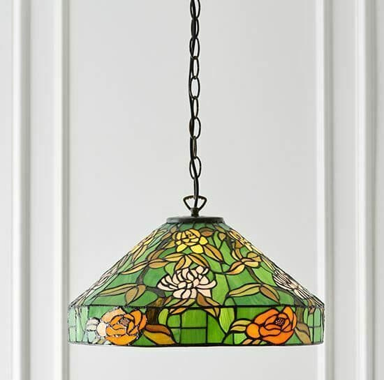 Agapantha Medium Tiffany Glass Pendant Chandelier